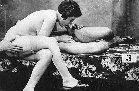 Mamada de polla en el año 1900