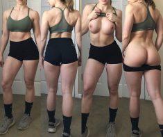 Deportista desnudándose